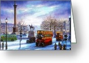 Trafalgar Greeting Cards - Trafalgar Square 1938 Greeting Card by Mike  Jeffries