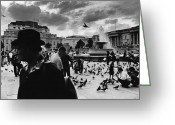 Trafalgar Greeting Cards - Trafalgar Square Greeting Card by Aldo Cervato
