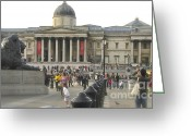 Trafalgar Greeting Cards - Trafalgar square Greeting Card by Elisabeth Hansz