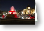 Trafalgar Greeting Cards - Trafalgar Square Greeting Card by Khadijah Abdullah