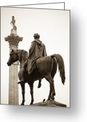 Trafalgar Greeting Cards - Trafalgar Square London Greeting Card by Andria Patino