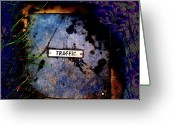Altered Photograph Greeting Cards - Traffic by Erik Akerman Greeting Card by Beth Akerman