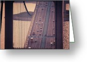Hong Kong Greeting Cards - Traffic On Tsing Ma Bridge, Hong Kong, China Greeting Card by Yiu Yu Hoi