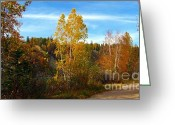 Alberta Greeting Cards - Trail by the River Greeting Card by Jim Sauchyn