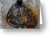 Crest Greeting Cards - Trail Marker Greeting Card by David Lee Thompson