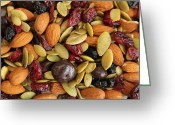 Nut Chocolate Greeting Cards - Trail nuts Greeting Card by Isabel Poulin