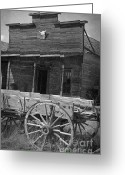 Stippling Greeting Cards - Trail Town in Cody Wyoming Greeting Card by Janeen Wassink Searles