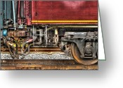 Whippany Greeting Cards - Train - Car - Joined in a union Greeting Card by Mike Savad