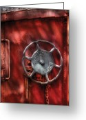Rivet Greeting Cards - Train - Car - The Wheel Greeting Card by Mike Savad
