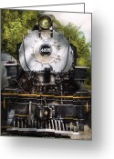 Rail Road Greeting Cards - Train - Engine - 4039 American Locomotive Company  Greeting Card by Mike Savad