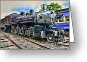 Iron Horse Greeting Cards - Train - Steam - 385 Fully Restored Greeting Card by Paul Ward