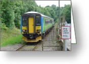 United Kingdom Greeting Cards - Train Approaching Matlock Bath Station Greeting Card by Rod Johnson