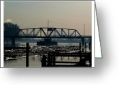 Dan Daulby Greeting Cards - Train Bridge Morning Greeting Card by Dan Daulby
