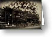 Cannonball Greeting Cards - Train In Vain Greeting Card by Bill Cannon