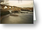 Richmond Greeting Cards - Train Over James River Greeting Card by Tom Lynch Photography LLC