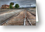 Kelso Greeting Cards - Train Tracks At Kelso Greeting Card by Bob Christopher