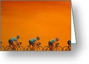 Cycling Greeting Cards - Training Greeting Card by Jennifer Lynch