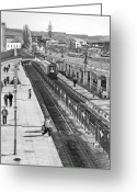 Romania Greeting Cards - Trainstation Greeting Card by Gabriela Insuratelu