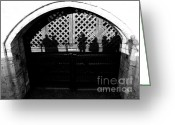Medeival Greeting Cards - Traitors gate and Ghostly images  Greeting Card by David Pyatt