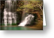 Tamyra Ayles Greeting Cards - Tranquil Falls Greeting Card by Tamyra Ayles