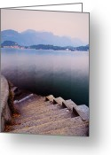 Lake Como Greeting Cards - Tranquil Greeting Card by John and Tina Reid