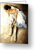 Dancer Greeting Cards - Tranquil Preparation Greeting Card by Richard Young