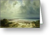 Coastal Landscape Greeting Cards - Tranquil Sea Greeting Card by Carl Morgenstern