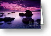 Greek Photo Greeting Cards - Tranquil Sea Greeting Card by Richard Garvey-Williams