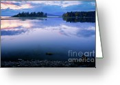 Natures Beauty Greeting Cards - Tranquil Sunset Greeting Card by Idaho Scenic Images Linda Lantzy