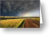 Storm Prints Photo Greeting Cards - Tranquil Turbulance Greeting Card by Dennis Krull