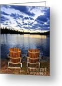 Adirondack Greeting Cards - Tranquility at sunset Greeting Card by Elena Elisseeva
