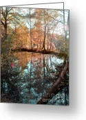 Turning Leaves Greeting Cards - Tranquility Greeting Card by Constance Woods