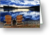 Adirondack Greeting Cards - Tranquility Greeting Card by Elena Elisseeva