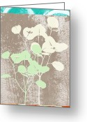 Gray Greeting Cards - Tranquility Greeting Card by Linda Woods