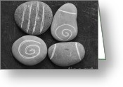 Office Art Greeting Cards - Tranquility Stones Greeting Card by Linda Woods