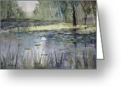 Lily Pad Greeting Cards - Tranquillity Greeting Card by Ryan Radke
