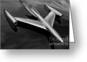 Chrome Jet Greeting Cards - Transcendent Greeting Card by Toni Chanelle Paisley