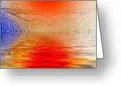 Smudgeart Greeting Cards - Transcending Spiritual Light Greeting Card by Madeline M Allen