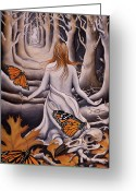 Monarchs Greeting Cards - Transformation Greeting Card by Sheri Howe