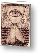 Intaglio Etching Greeting Cards - Transient  Greeting Card by Janelle Schneider
