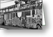 B Pyrography Greeting Cards - Transit Graffiti Greeting Card by William McCraney