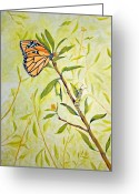 Caterpillar Greeting Cards - Transitions Greeting Card by Roseann Gilmore