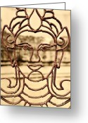 Namaste Greeting Cards - Transparence Greeting Card by Dean Harte