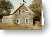The Haunted House Greeting Cards - Trapped in Past Tense Greeting Card by Desiree Paquette
