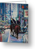 New York Cops Greeting Cards - Travel Notebook. New York. Third Day Greeting Card by Anna  Duyunova