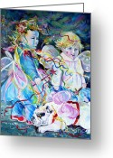Anna Duyunova Art Greeting Cards - Travel Notebook. Nice Carnival. Fairies Greeting Card by Anna  Duyunova