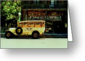 Santa Barbara Digital Art Greeting Cards - Traveling Back at the Union Hotel Greeting Card by Steven  Digman