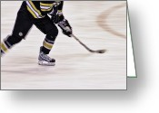 Hockey Action Greeting Cards - Traveling with the Puck Greeting Card by Karol  Livote