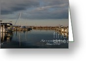 New York City Jewelry Greeting Cards - Traverse City evening Greeting Card by Melissa Huber
