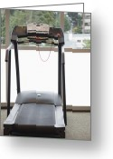 Rehabilitate Greeting Cards - Treadmill With a View Greeting Card by Andersen Ross